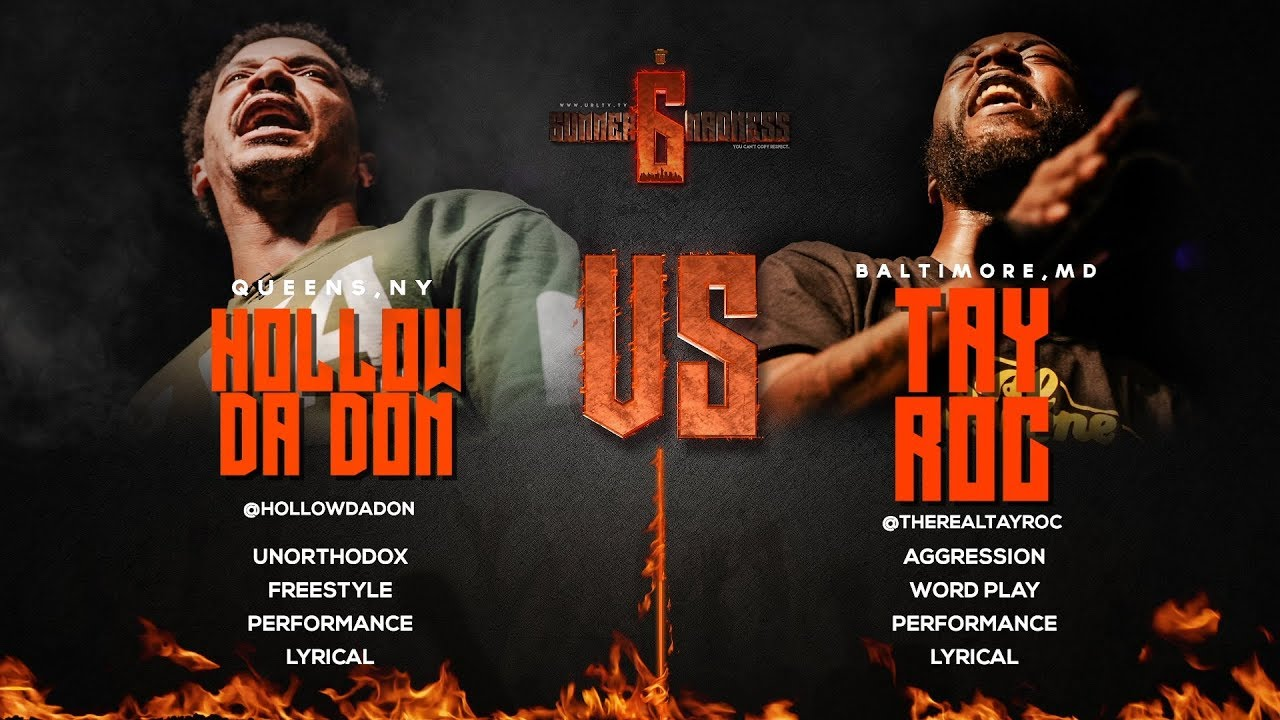 Hollow da Don vs  Tay Roc | Ultimate Rap League | VerseTracker