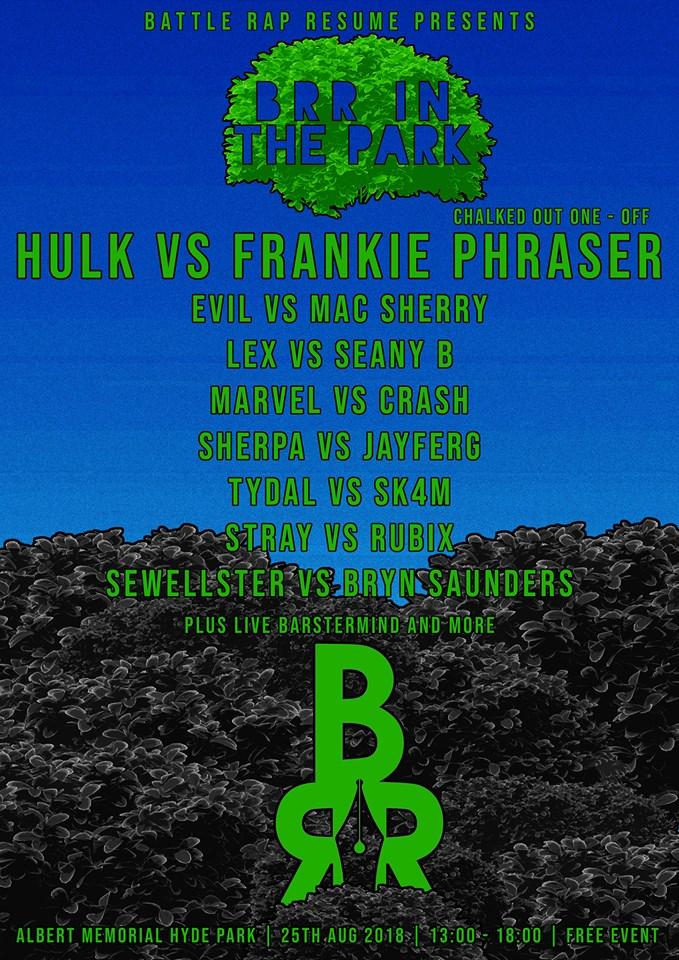 Brr In The Park Battle Rap Resume Battle Rap Event Versetracker