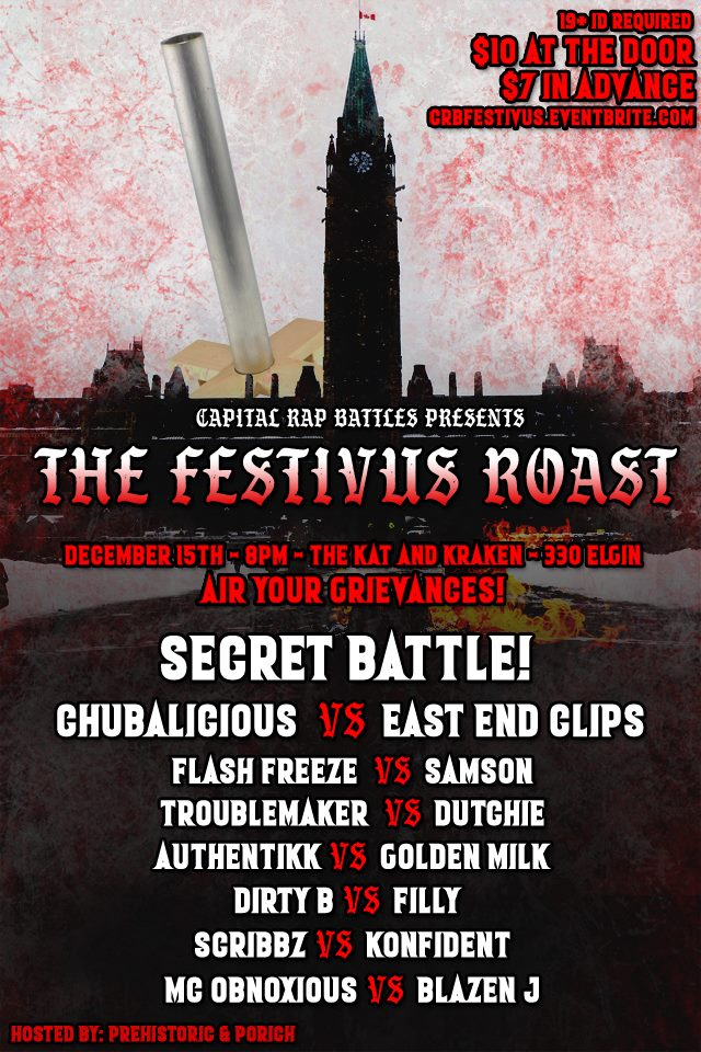 Festivus Roast - Capital Rap Battles | Battle Rap Event | VerseTracker