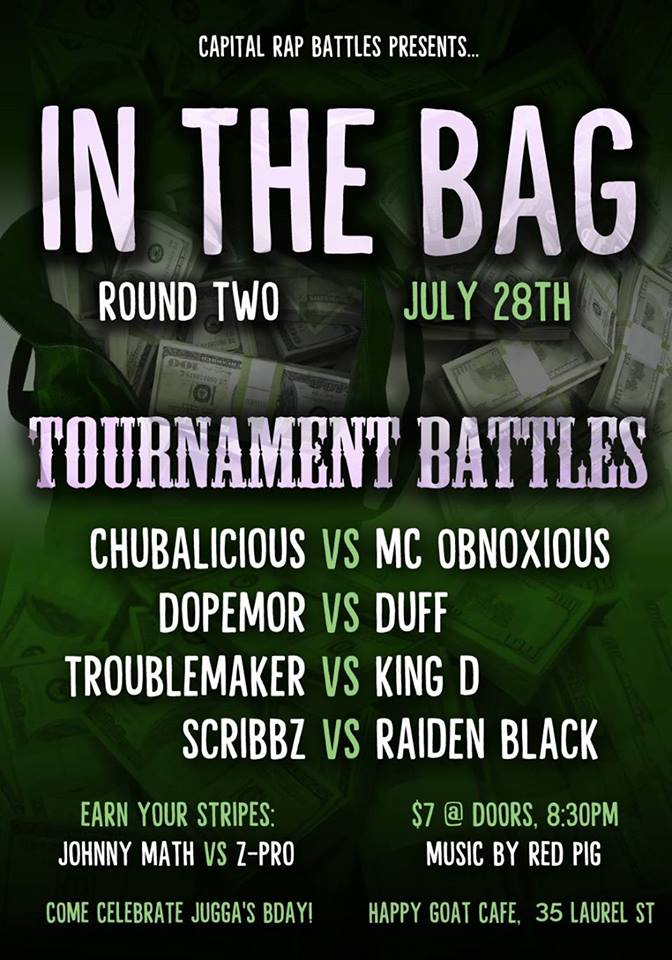 In the Bag Battle Tournament: Round 2 - Capital Rap Battles | Battle