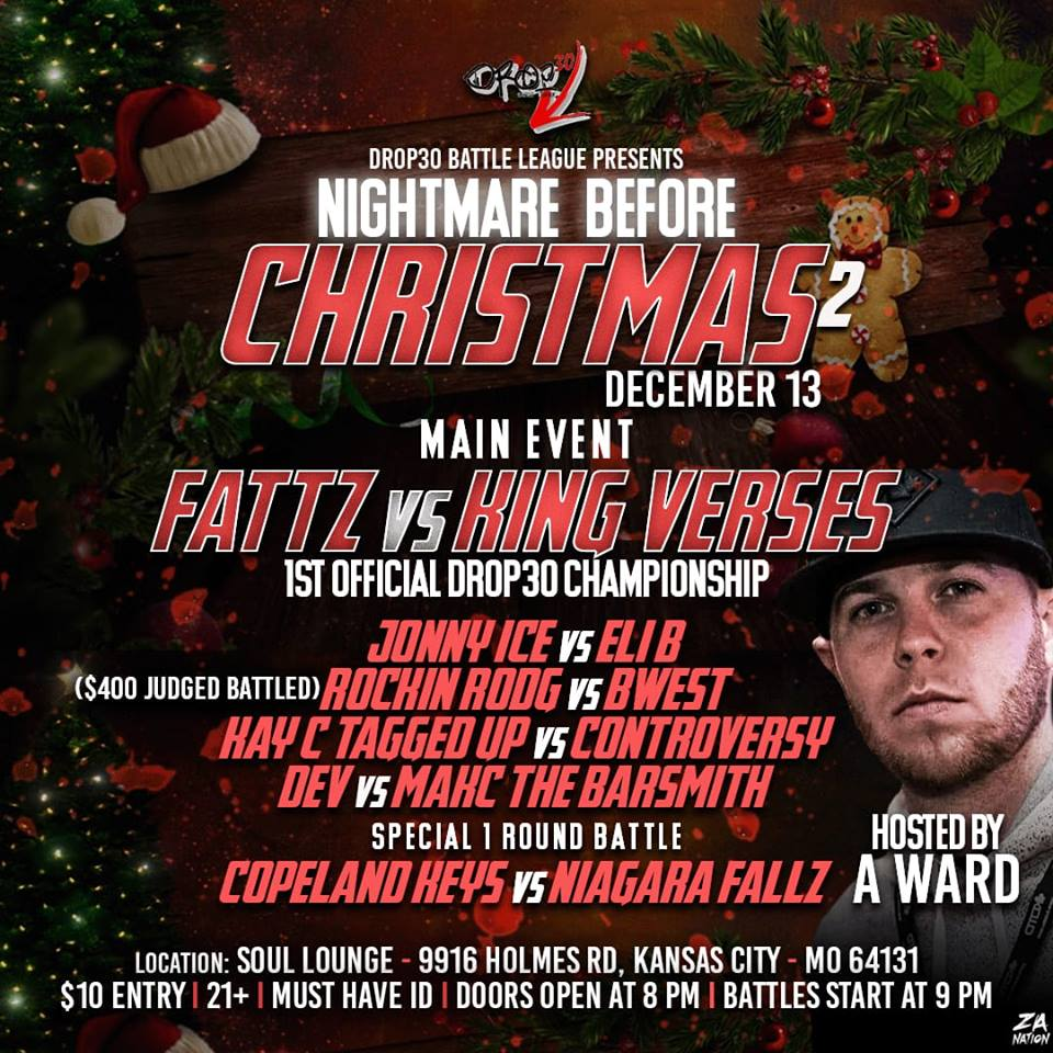 Nightmare Before Christmas 2 - Drop 30 Battle League   Battle Rap ...