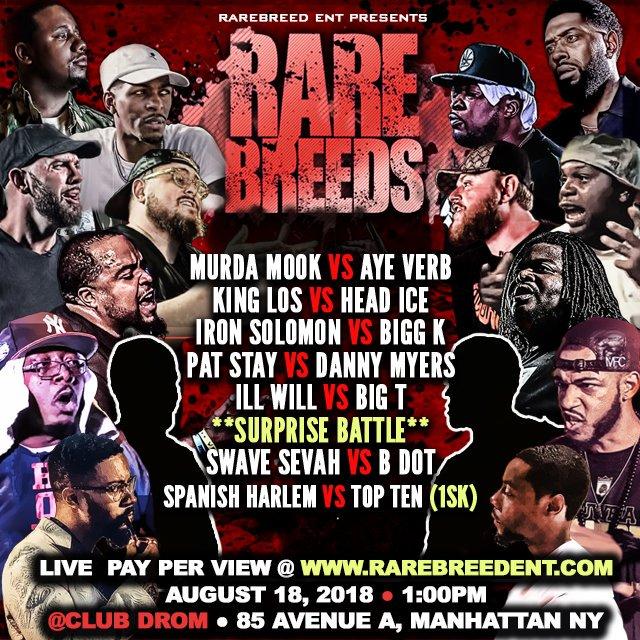 Rare Breeds - Rare Breed Entertainment | Battle Rap Event