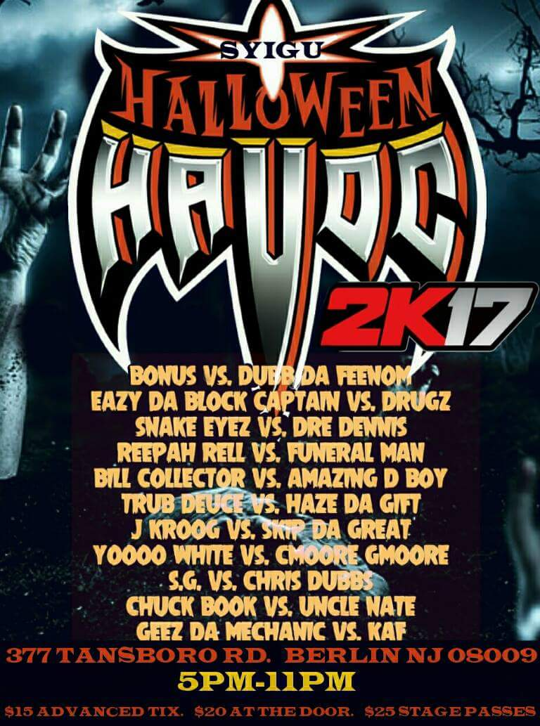 Halloween Havoc 2K17 - Step Your Ink Game Up Battle League ...