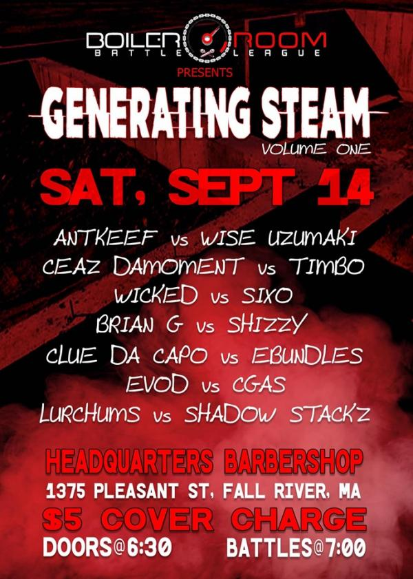 Generating Steam: Volume One - Boiler Room Battle League